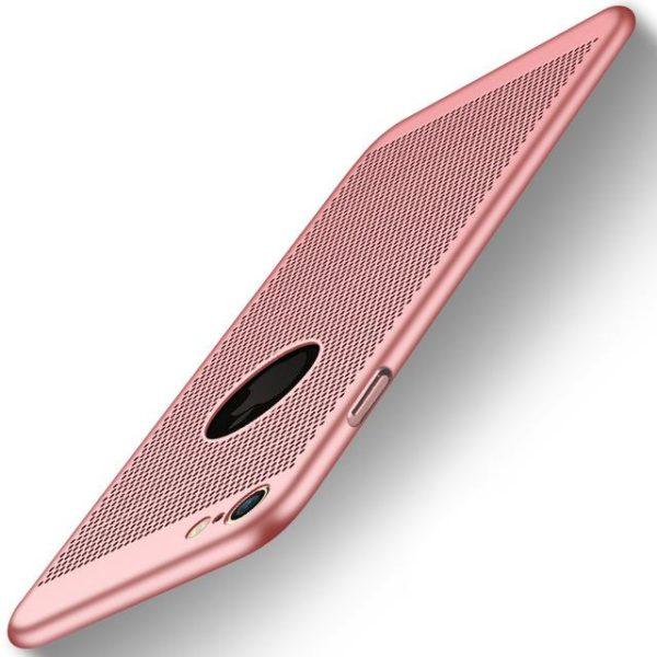 Coque ultra fine avec dissipateur de chaleur pour iPhone raton-malin Rose doré iPhone 5 5s SE