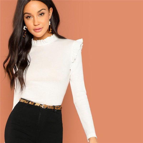 Blouse Blanche Tendance 2019 Minute Mode White XS