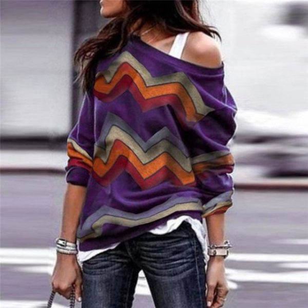 Blouse Zigzag Colorée Minute Mode Violet XXXL
