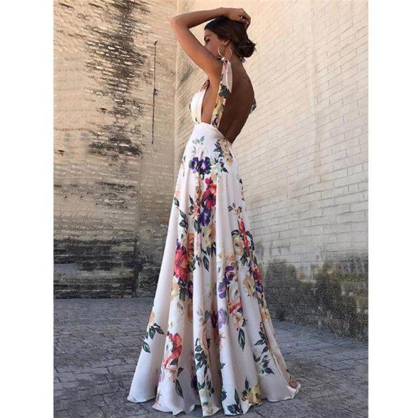 Sublime Robe Longue Florale Minute Mode Fleurs S