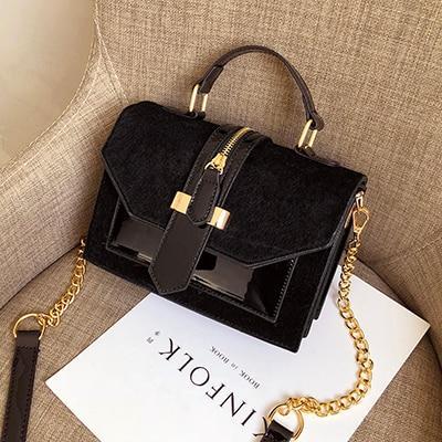 Sac à Main Luxure Minute Mode Noir 20cm x 15cm x 9cm