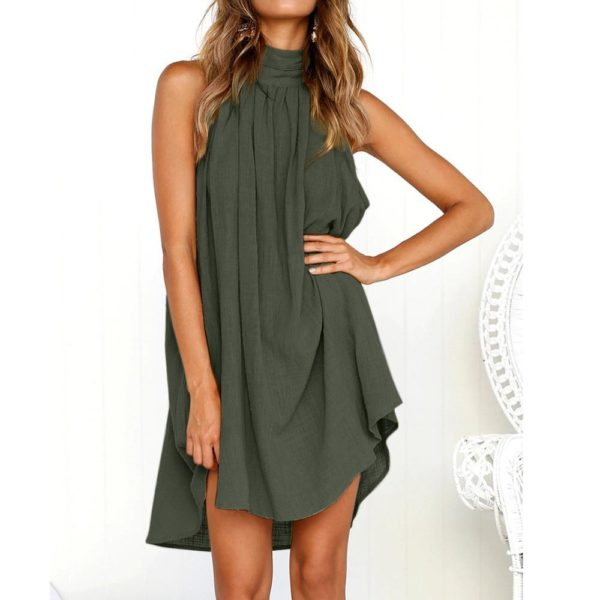 Ivana™ - Superbe Robe Élégante Minute Mode Vert S