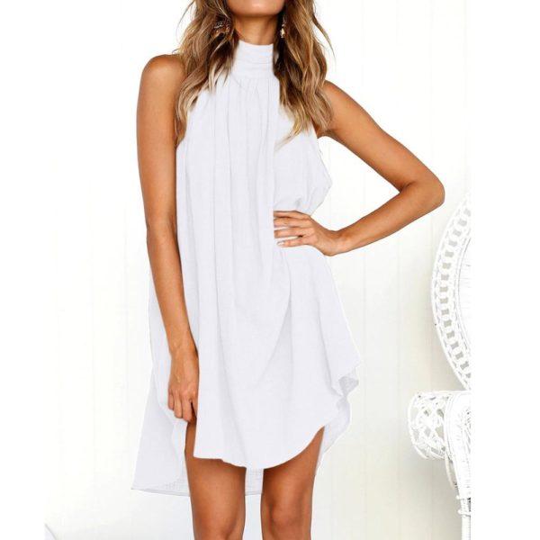 Ivana™ - Superbe Robe Élégante Minute Mode Blanc S