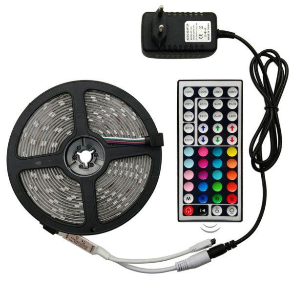 Bande Lumineuse LED Avec télécommande Raton Malin RGB 5050 Non waterproof 5 mètres