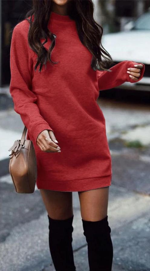 Robe Pull Casual Minute Mode Rouge S