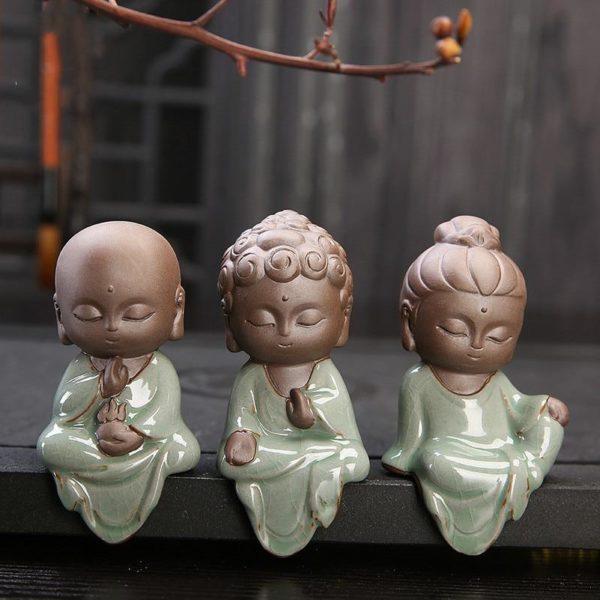product image 894238743 Petite Statue Bouddha En Céramique