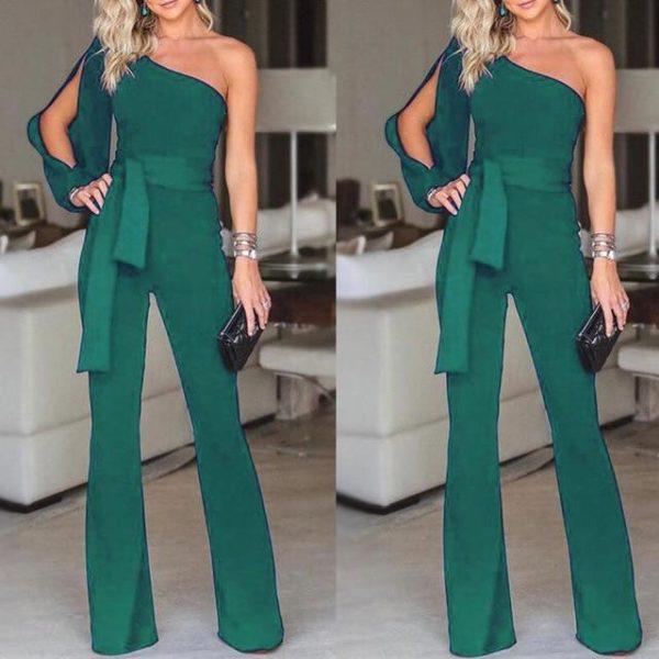 Combinaison Élégante Féminine Minute Mode Vert S