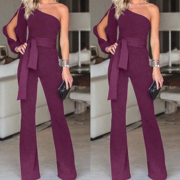 Combinaison Élégante Féminine Minute Mode Violet S