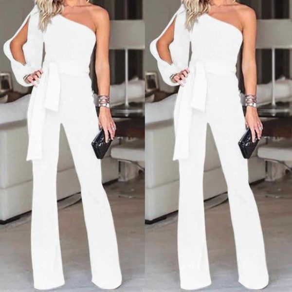 Combinaison Élégante Féminine Minute Mode Blanc S