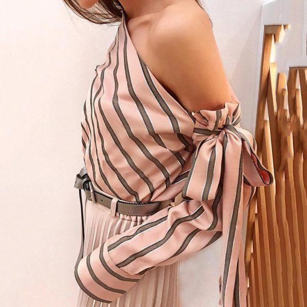 product image 900799564 Blouse One Shoulder À Rayures