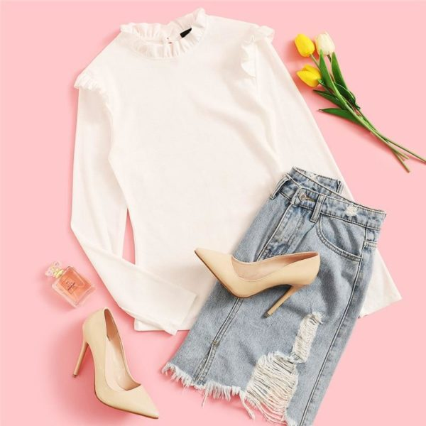 product image 917372577 Blouse Blanche Tendance 2020