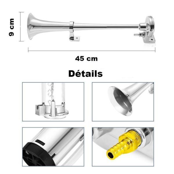 product image 918845435 Klaxon De Train 150 Db Avec Compresseur D'air