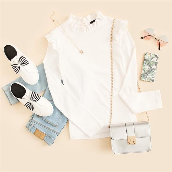 product image 922470251 Blouse Blanche Tendance 2020