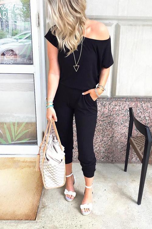 Combinaison Fashion et Élégante Minute Mode Noir S
