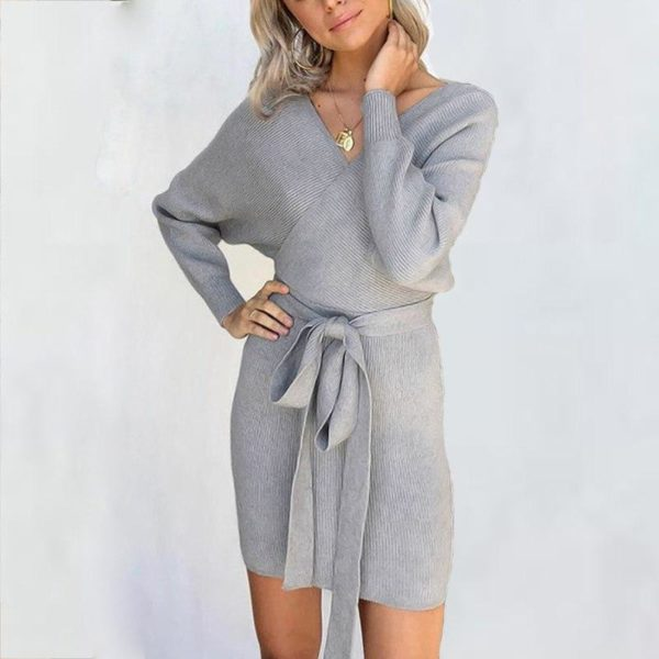 Robe pull moderne Minute Mode Gris L