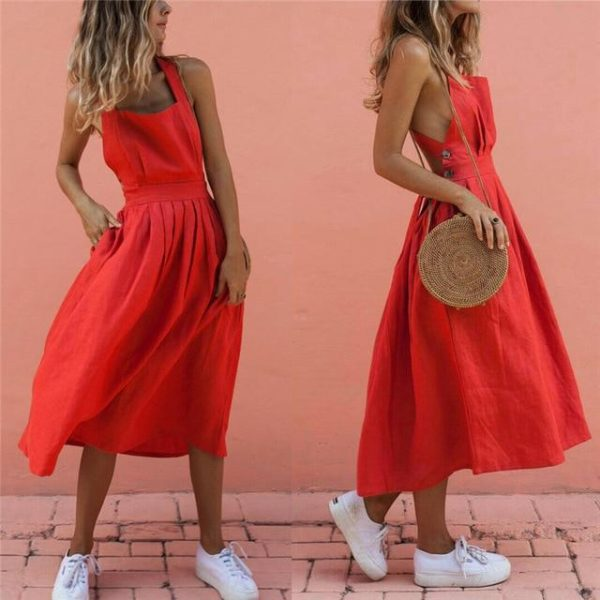 Superbe Robe Rouge Minute Mode Rouge S