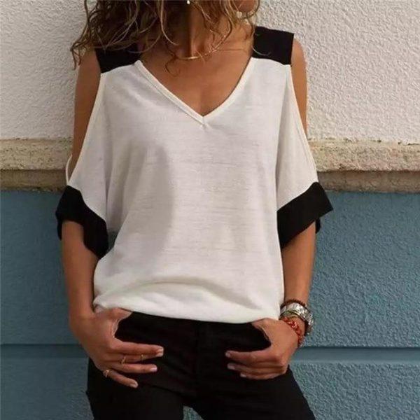 Blouse Spéciale Épaules Dénudées Minute Mode Blanc 5XL