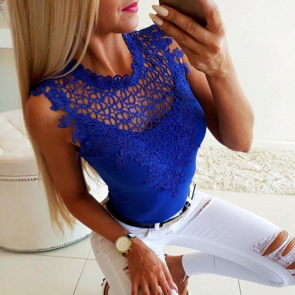 Haut Féminin 2019 Minute Mode Bleu L