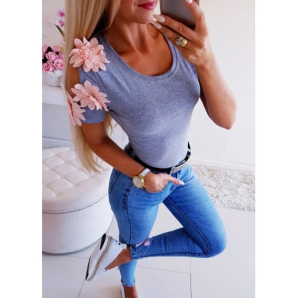 product image 988137347 Blouse Manches Fleuries