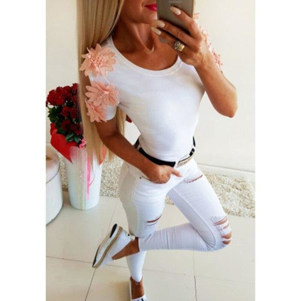 product image 988137354 Blouse Manches Fleuries