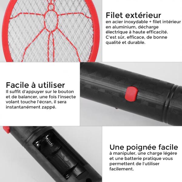 raquetteamoucheelectrique La Raquette Électrique Anti Moustique À Utilisation Sans Fil