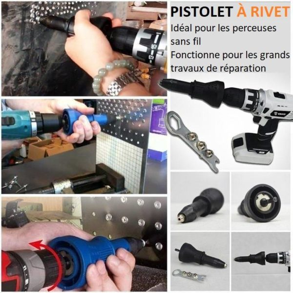 rivet1 Adaptateur Pour Pistolet À Rivet Détachable