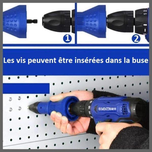 rivet2 Adaptateur Pour Pistolet À Rivet Détachable
