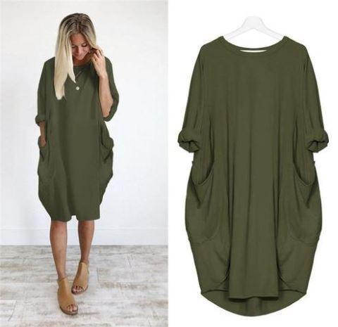 Blouse Ample LAZY Minute Mode Vert XXL