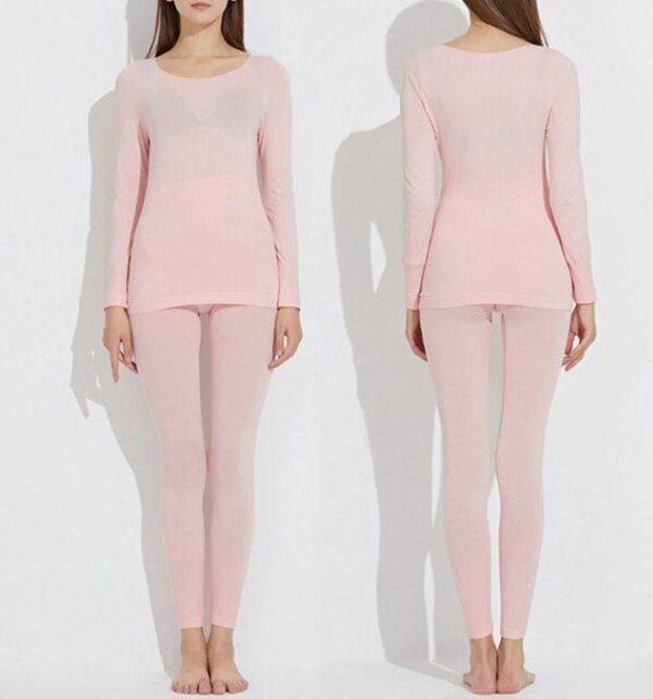 Sous-vêtements Thermiques Élastiques Sans Couture Flash Ventes Rose - Femme