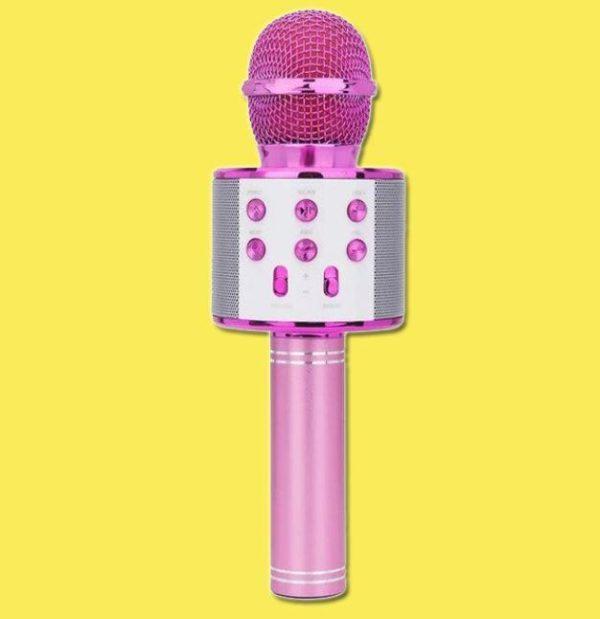 Micro Karaoké Sans Fil - Fonction Bluetooth Raton Malin Rose