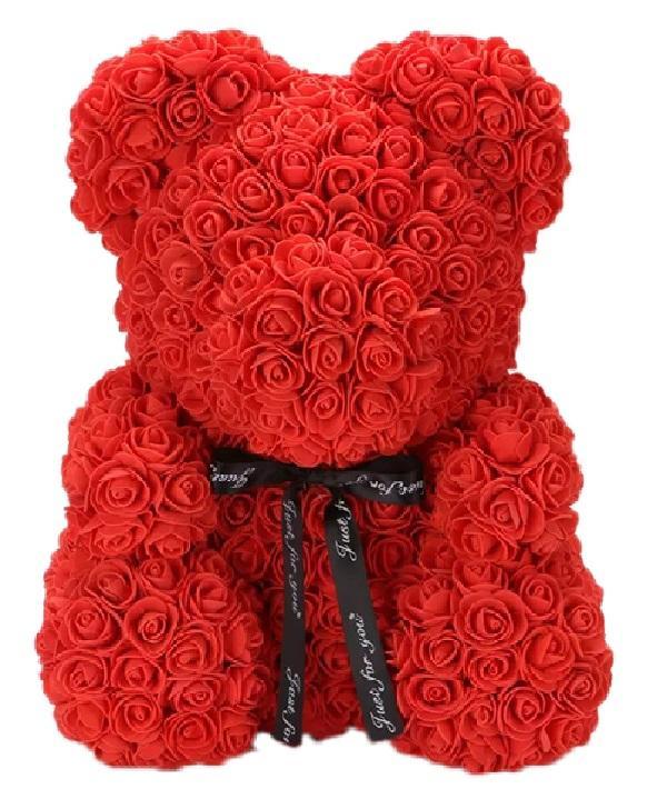 Ours en Peluche Roses Raton Malin Rouge