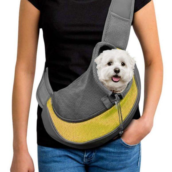 sac transport jaune f8195334 3974 4d54 98a0 6012f8145132 Sac De Transport Bandoulière Animal Protect®   Pour Chien Et Chat