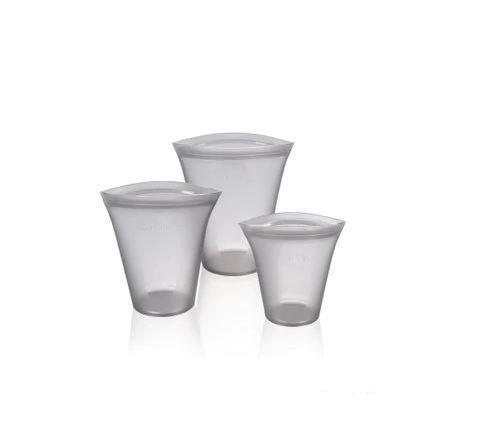 Conteneurs Alimentaires Réutilisables Raton Malin Gris 3 tasses grises