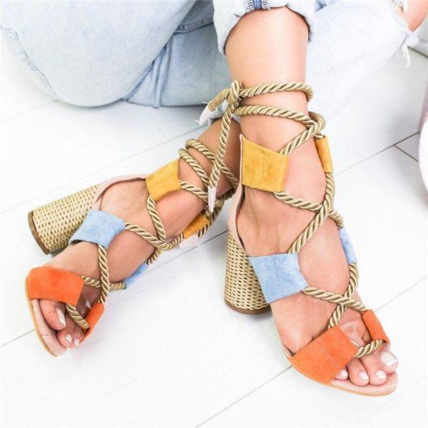sandalealacettalon Les Sandales Cuir À Lacets Pour Femme Au Look Casual Chic