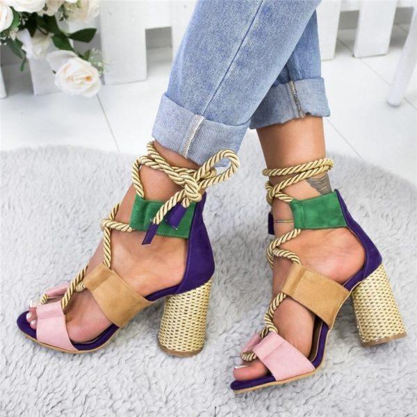sandaleaveclacet Les Sandales Cuir À Lacets Pour Femme Au Look Casual Chic