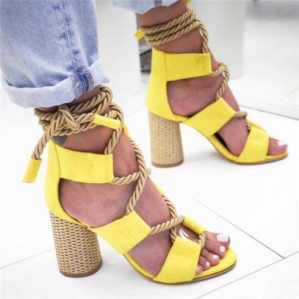sandalegladiateurlacet Les Sandales Cuir À Lacets Pour Femme Au Look Casual Chic