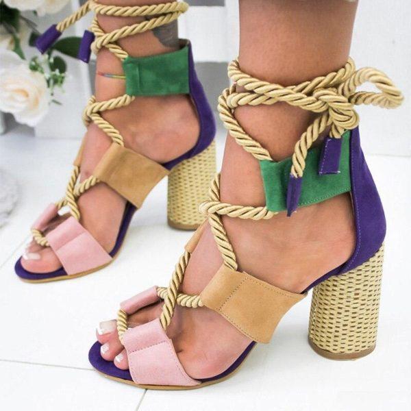 sandalelacetmollet 7ffe88d1 1eea 4b7f 8cd1 2986c55d5c95 Les Sandales Cuir À Lacets Pour Femme Au Look Casual Chic