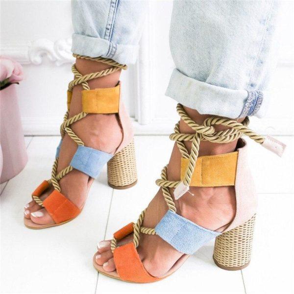 sandalesfemmetalon Les Sandales Cuir À Lacets Pour Femme Au Look Casual Chic