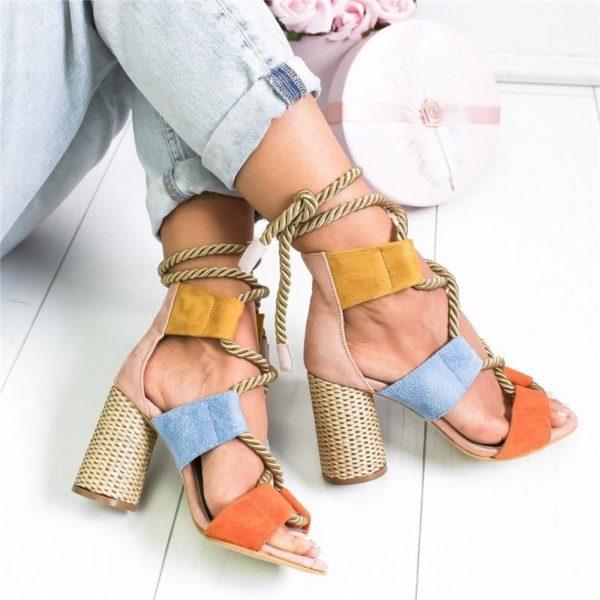 sandaleslacagecheville Les Sandales Cuir À Lacets Pour Femme Au Look Casual Chic