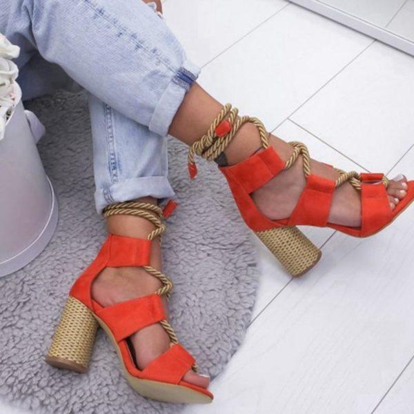 sandalestalons Les Sandales Cuir À Lacets Pour Femme Au Look Casual Chic