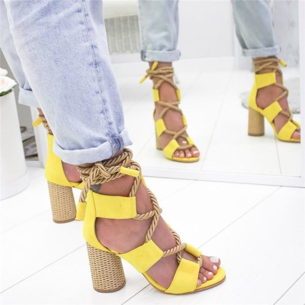 sandaletalonlacet Les Sandales Cuir À Lacets Pour Femme Au Look Casual Chic