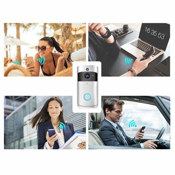 sonnette wifi sans fil Sonnette Connectée Pour Protéger Votre Maison Où Que Vous Soyez !
