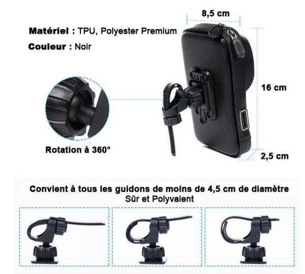 support4 Support De Téléphone Pour Guidon