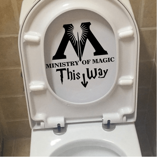 """t1 Autocollant """"Ministry Of Magic - This Way"""" Pour Toilettes"""
