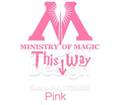 """t11 82abfc43 0342 4657 a6a1 f46d6c6bd6d1 Autocollant """"Ministry Of Magic - This Way"""" Pour Toilettes"""