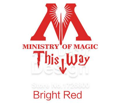 """t13 c143082a 4e6c 4a54 bc27 e1dfd0fc6d1c Autocollant """"Ministry Of Magic - This Way"""" Pour Toilettes"""