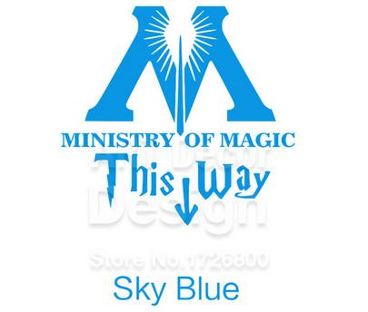 "t16 77fea3a1 a416 4905 ad64 d06dbd96373a Autocollant ""Ministry Of Magic - This Way"" Pour Toilettes"