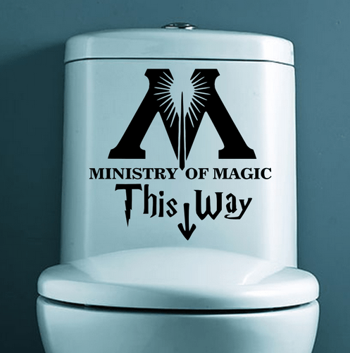 """t2 Autocollant """"Ministry Of Magic - This Way"""" Pour Toilettes"""