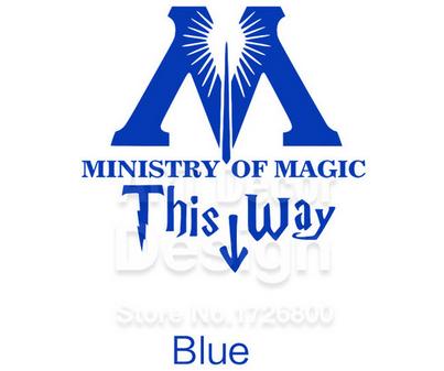 "t7 7c8b6ccf e59c 46a2 94f8 3eb7b4495eea Autocollant ""Ministry Of Magic - This Way"" Pour Toilettes"