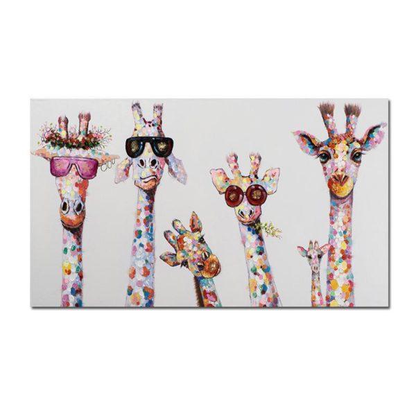 tableaugirafepopart ee046971 ad05 468d 81f6 2876b0b3a82d Le Tableau Girafes Pop Art Pour Une Décoration Originale